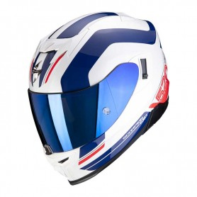 CASCO SCORPION EXO 520 AIR LEMANS BLANCO ROJO Y AZUL