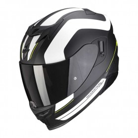 CASCO SCORPION EXO 520 AIR LEMANS BLANCO NEGRO Y AMARILLO
