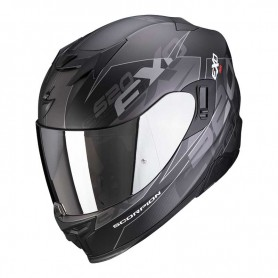 CASCO SCORPION EXO 520 AIR COVER NEGRO MATE Y PLATA