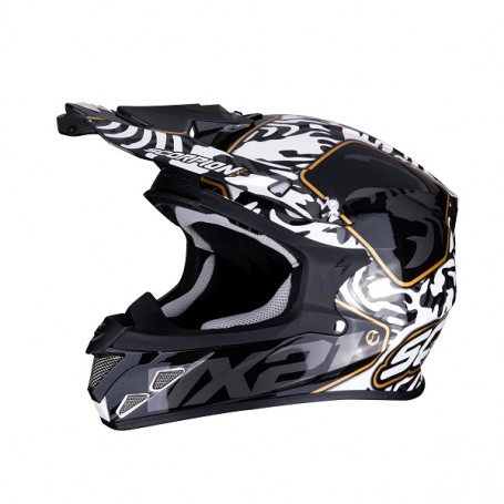 6a2680a4 CASCO SCORPION VX 21 AIR GNARLY BLANCO CON NEGRO