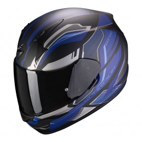 casco scorpion exo 390 boost negro azul