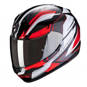 casco scorpion exo 390 boost rojo blanco